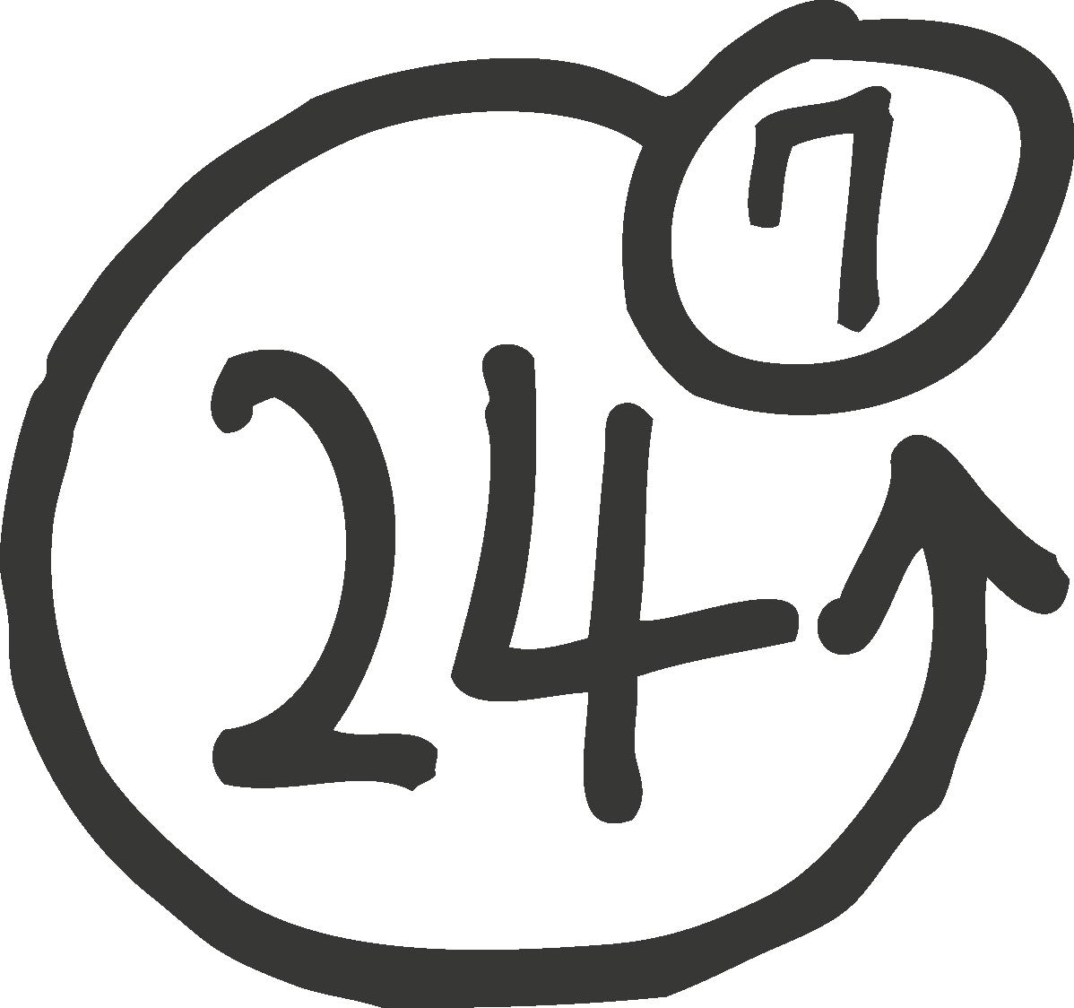 Ouverts 24h/24h et 7J/7J